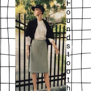 Houndstooth Skirt by Kasper